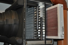 Original Lindab F7 filter in our intake pre-heat.